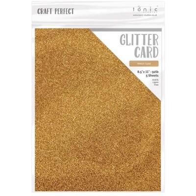 8.5X11 Glitter Cardstock, Welsh Gold (5/Pk)
