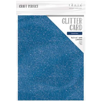 8.5X11 Glitter Cardstock, Cobalt Blue (5/pk)