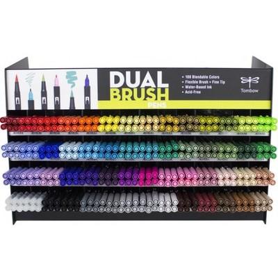 Dual Brush Pen Display (54 Colors/336pcs)