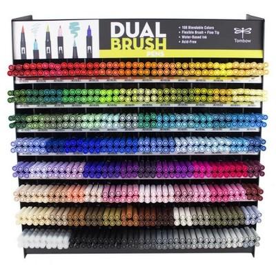 Dual Brush Pen Display (108 Colors/672pcs)
