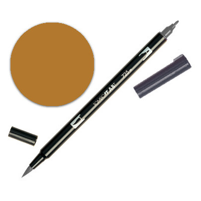 Dual Brush Pen - Saddle Brown 977