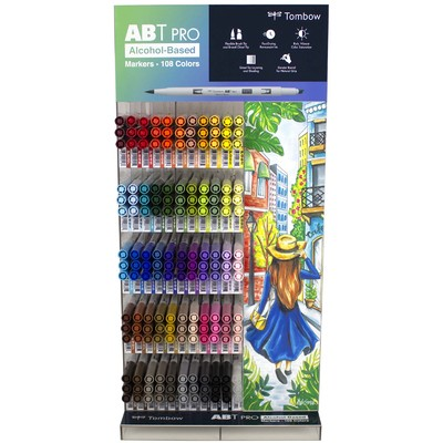 ABT PRO Alcohol-Based Marker Display (165 Piece/54 Colors)