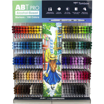 ABT PRO Alcohol-Based Marker Display (330 Piece/108 Colors)