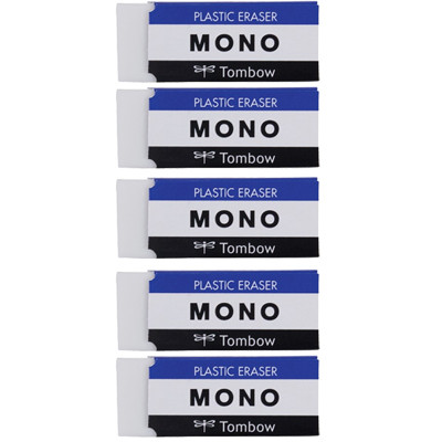 MONO Eraser, Small, 5PK