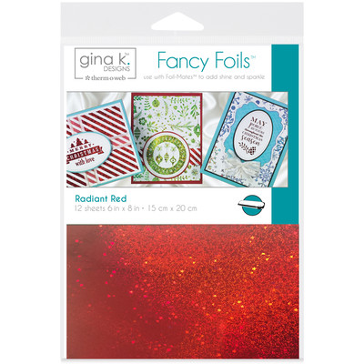 6X8 Fancy Foils, Radiant Red