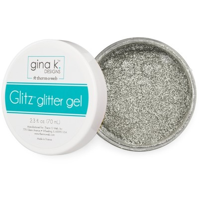 Glitz Glitter Gel, Silver (2.3oz)