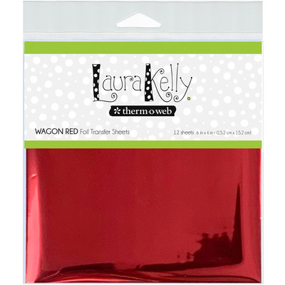 6X6 Foil Transfer Sheets, Wagon Red