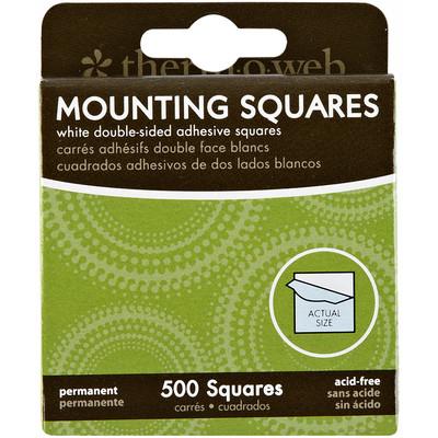 Mounting Squares, White - 500Ct Box