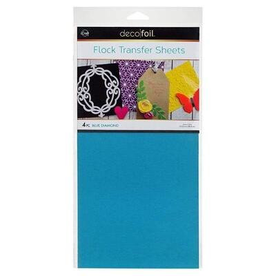 6X12 Deco Foil Flock Transfer Sheets, Blue Diamond