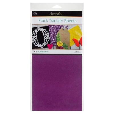 6X12 Deco Foil Flock Transfer Sheets, Purple Punch