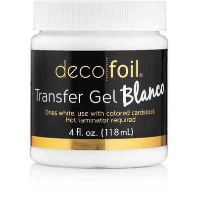 Deco Foil Transfer Gel, Blanco (4 fl oz)