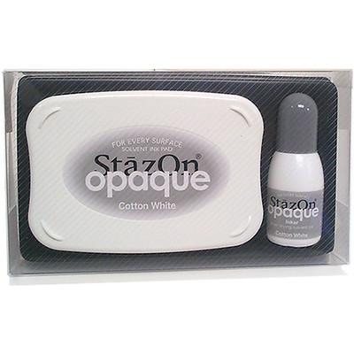 StazOn Ink Pad Kit, Opaque Cotton White