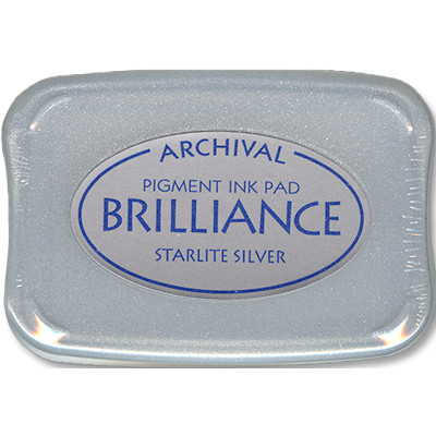 Brilliance Ink Pad, Starlite Silver