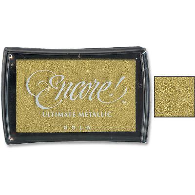 Encore Ink Pad, Metallic Gold