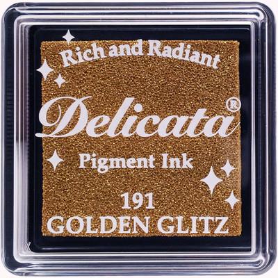 Delicata Ink Pad, Small - Golden Glitz