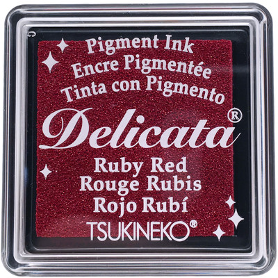 Delicata Ink Pad, Small - Ruby Red