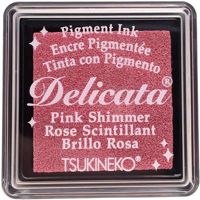 Delicata Ink Pad, Small - Pink Shimmer