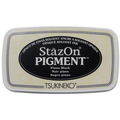 StazOn Pigment Ink Pad, Piano Black