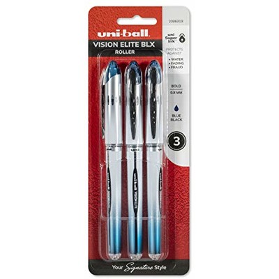 Vision Elite BLX Pen Set, .8mm - Blue/Black (3pk)