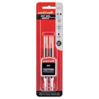 Signo 207 Pen Refill, .7mm - Black (2pk)