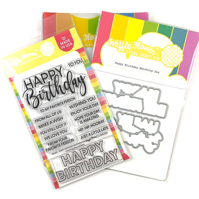 Clear Stamp & Die Combo, Happy Birthday