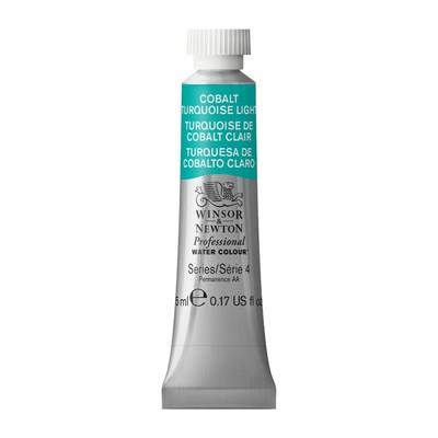 Professional Watercolour 5ml Tube, Cobalt Turquoise Light