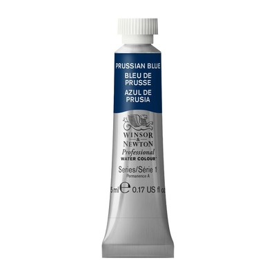 Professional Watercolour 5ml Tube, Prussian Blue