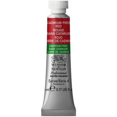 Professional Watercolour 5ml Tube, Cadmium-Free Red