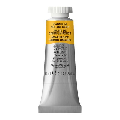 Professional Watercolour 14ml Tube, Cadmium Yellow Deep