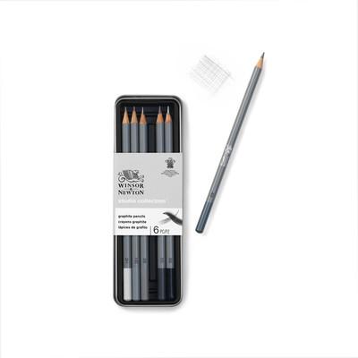 Studio Collection Graphite Pencil Tin, 6 Piece