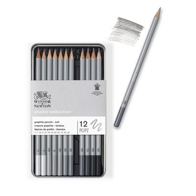 Studio Collection Graphite Pencil Tin, Soft (12 Piece)