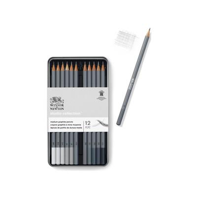 Studio Collection Graphite Pencil Tin, Med (12 Piece)