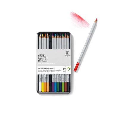 Studio Collection Colour Pencil Tin, 12 Piece