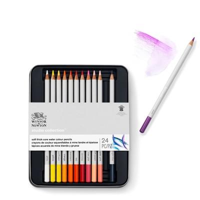 Studio Collection Watercolour Pencil Tin, 24 Piece