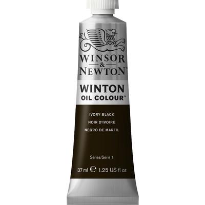 Winton Oil Colour 37ml Tube, Ivory Black