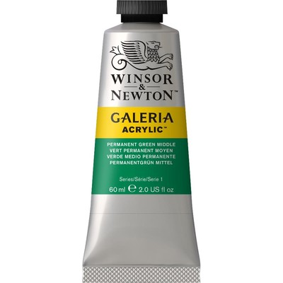 Galeria Acrylic 60ml Tube, Permanent Green Middle