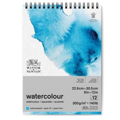 "Spiral Watercolour Paper Pad, 140lb Cold Press - 9"" x 12"""