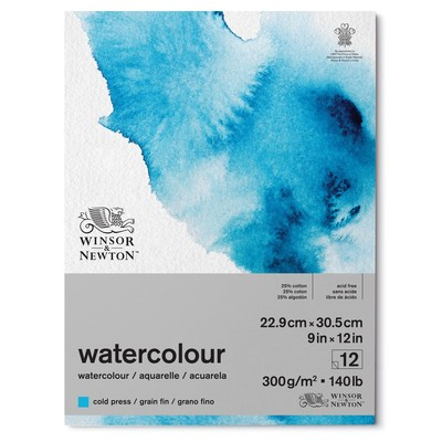 "Watercolour Paper Pad, 140lb Cold Press - 9"" x 12"""