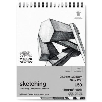 "Spiral Sketching Paper Pad, 110gsm - 9"" x 12"" (50 Sheets)"