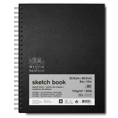 "Spiral Sketch Book, 110gsm - 9"" x 12"" (80 sheets)"