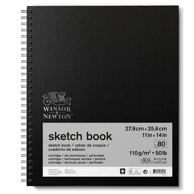 "Spiral Sketch Book, 110gsm - 11"" x 14"" (80 sheets)"