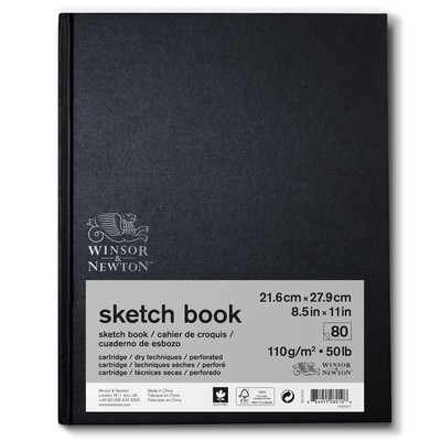 "Hardbound Sketch Book, 110gsm - 8.5"" x 11"" (80 Sheets)"