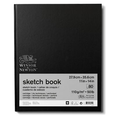 "Hardbound Sketch Book, 110gsm - 11"" x 14"" (80 Sheets)"