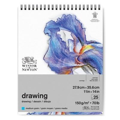 "Spiral Drawing Paper Pad, Medium 150gsm - 11"" x 14"""