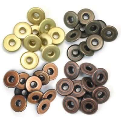 Eyelet & Washer, Crop-A-Dile - Wide - Warm Metal (32pc)