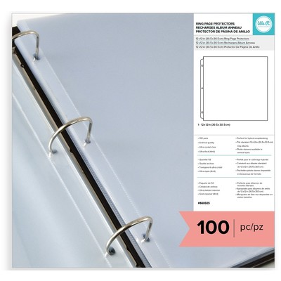 12X12 Page Protectors, 100 Pack