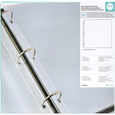12X12 Page Protectors, 50 Pack