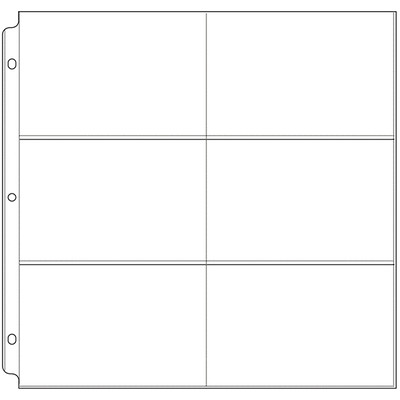 12X12 Page Protectors, 6-4X6 Pockets (10 Pack)