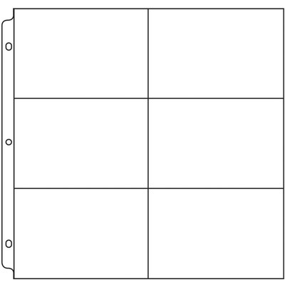 12X12 Page Protectors, 6-4X6 Pockets (50 Pack)