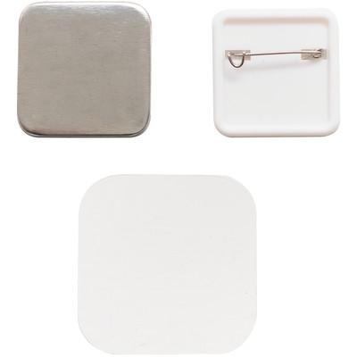 Button Press Square Button Pin Back Refill (30 Piece)